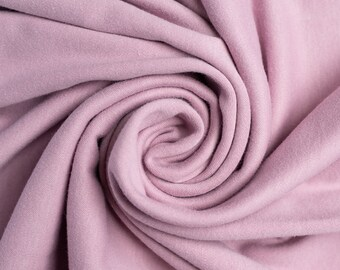 Organic KNIT Fabric - Birch Interlock Knit Soilds - Lavender Solid