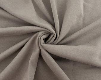 Organic KNIT Fabric - Birch Interlock Knit Soilds - Shroom Knit Solid
