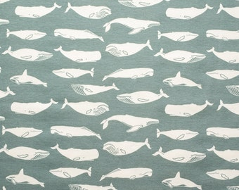 Organic KNIT Fabric - Birch Tonoshi Knit - Kujira Grey Interlock Knit - 58 inches wide!