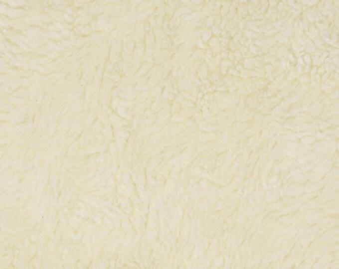 "12"" Remnant, Full Width - Organic Sherpa - Birch Organic Cotton Sherpa - Cream"