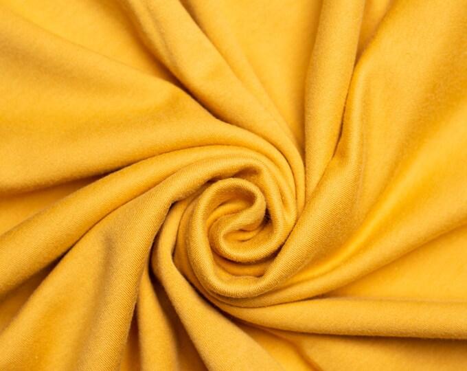 Organic KNIT Fabric - Birch Interlock Knit Soilds - Honey Solid