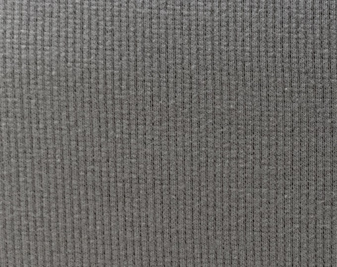 Organic KNIT Fabric - Birch Shroom Ribbed Knit