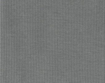 Organic KNIT Fabric - Birch Gray Ribbed Knit