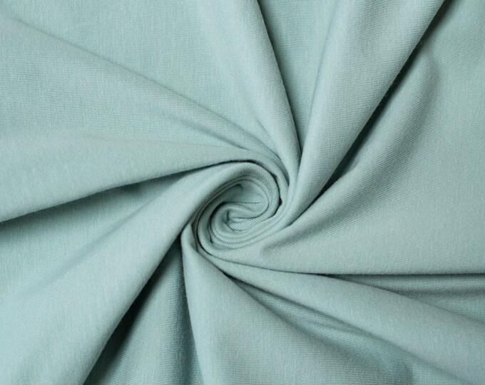Birch Organic Jersey Knit Solids - Mineral Green Jersey Knit