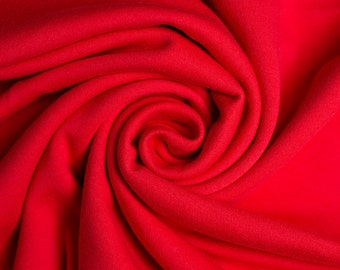 Organic KNIT Fabric - Birch Interlock Knit Soilds - Ruby Solid