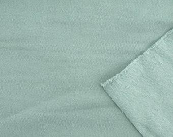 Pre-washed Organic Cotton Fleece - Birch Organic Fleece Solids - Mineral