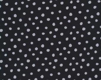 Organic Knit Fabric - Cloud9 Knits - Dots Black/Gray