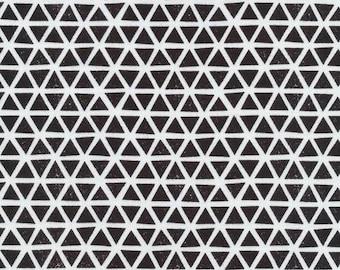 Organic KNIT Fabric - Cloud9 Knits - Triangles Black