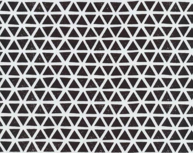 Organic KNIT Fabric - Cloud9 2017 Knits - Triangles Black