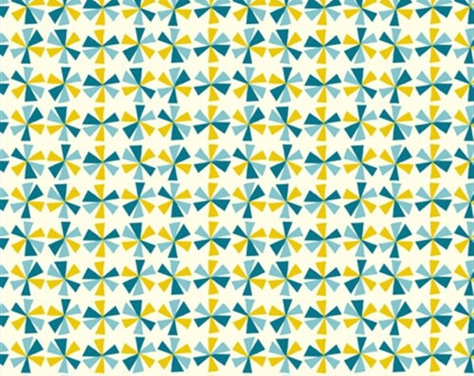 Organic Cotton Fabric - Birch Frolic - Pinwheels