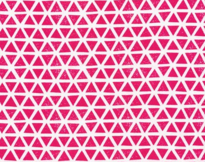 Organic KNIT Fabric - Cloud9 2017 Knits - Triangles Magenta