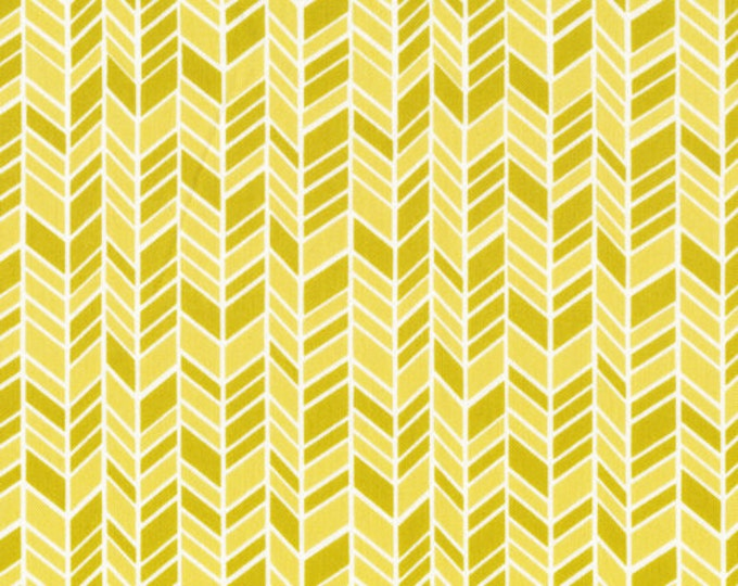 Organic Cotton Fabric - Cloud9 Fabrics House & Garden - Straw Hat Yellow