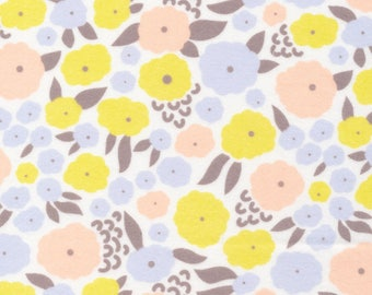 Organic FLANNEL Fabric - Cloud9 Field Day Flannel - Cottonflower Citron
