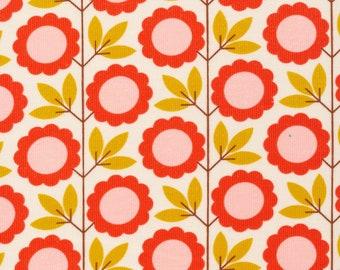 Organic Corduroy Fabric - Cloud9 A Walk Remembered - Blooming Vines