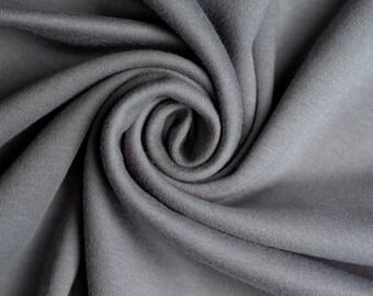 Organic KNIT Fabric - Birch Interlock Knit Soilds - Grey Solid