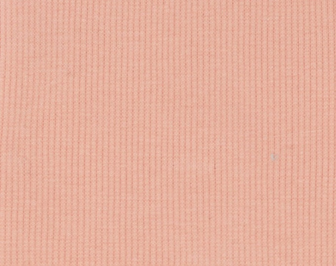 Organic KNIT Fabric - Birch Quince Ribbed Knit