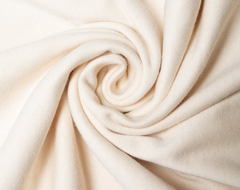 Organic KNIT Fabric - Birch Interlock Knit Soilds - Cream Solid