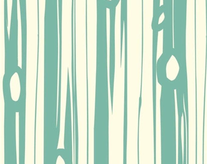 Organic KNIT Fabric - Birch Bear Camp - Bear Bois Pool