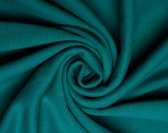 Organic KNIT Fabric - Birch Interlock Knit Soilds - Teal Solid