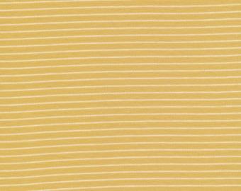 Organic Knit Fabric - Cloud9 Knits - Little Stripes Gold