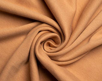 Organic KNIT Fabric - Birch Interlock Knit Soilds - Toast Solid