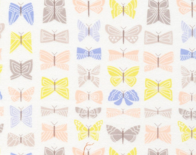 Organic FLANNEL Fabric - Cloud9 Field Day Flannel - Flutter