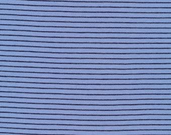 Organic Knit Fabric - Cloud9 Knits - Little Stripes Blue