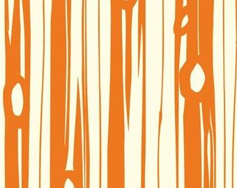Organic KNIT Fabric - Birch Bear Camp - Bear Bois Orange
