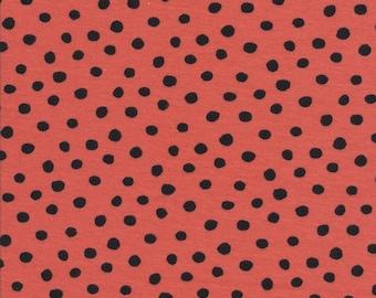 Organic Knit Fabric - Cloud9 Knits - Dots Red/Black