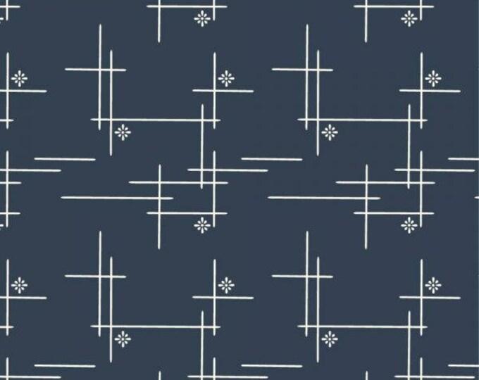 Organic KNIT Fabric - Birch Merryweather - Merry Hatch in Dusk Knit