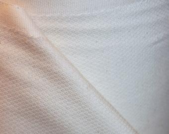 2 Yards Organic Unbleached Birdseye Cotton Fabric
