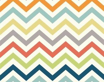 Organic DOUBLE GAUZE Fabric - Skinny Chev Multi