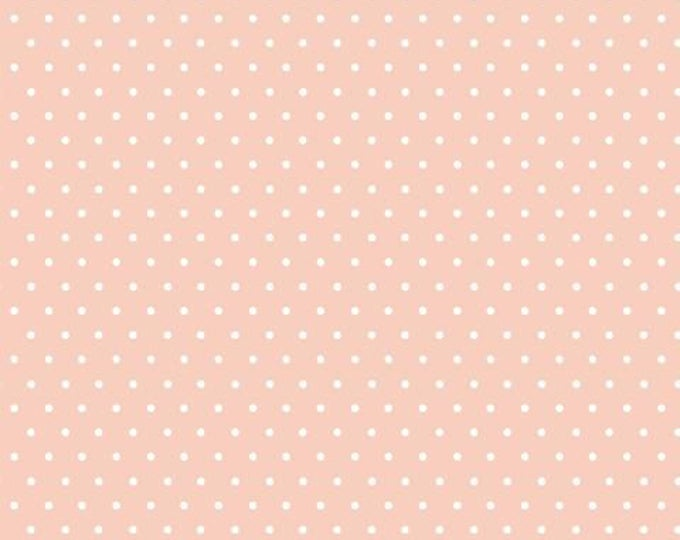 Organic KNIT Fabric - Cloud9 Tout Petit - Polka Dots Pink