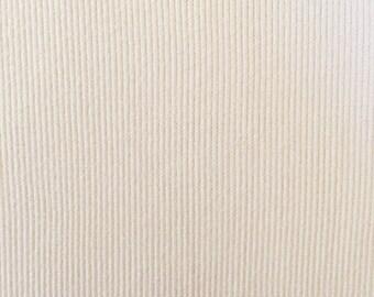 Organic KNIT Fabric - Birch Cream Ribbed Knit