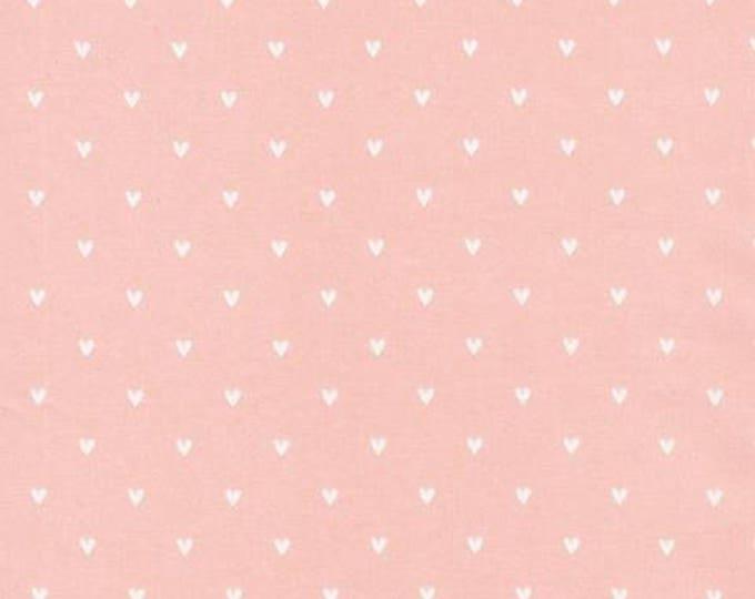 Organic Cotton Fabric - Cloud9 Tout Petit Sheeting - Little Hearts Pink