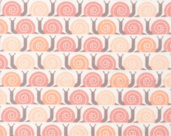 Organic FLANNEL Fabric - Cloud9 Field Day Flannel - Snail's Pace Pink