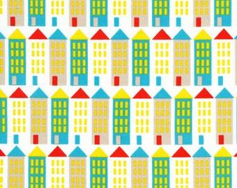 Organic CORDUROY Fabric - Cloud9 Small World Corduroy - City Street
