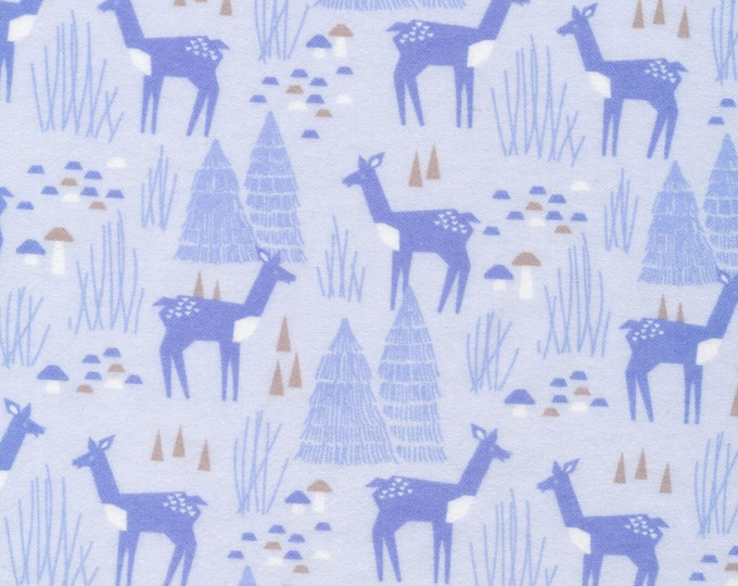 Organic FLANNEL Fabric - Cloud9 Field Day Flannel - Roam Free Blue