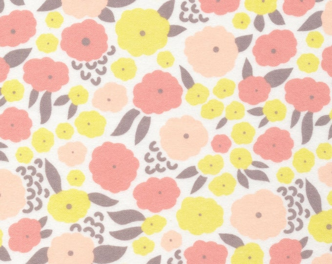 Organic FLANNEL Fabric - Cloud9 Field Day Flannel - Cottonflower Pink