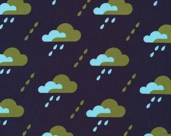 Organic CORDUROY Fabric - Cloud9 Spring Quartet - Droplet Dark Navy