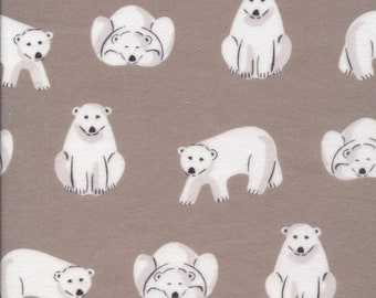 Cloud9 Northerly Organic Flannel - Polar Bears Gray