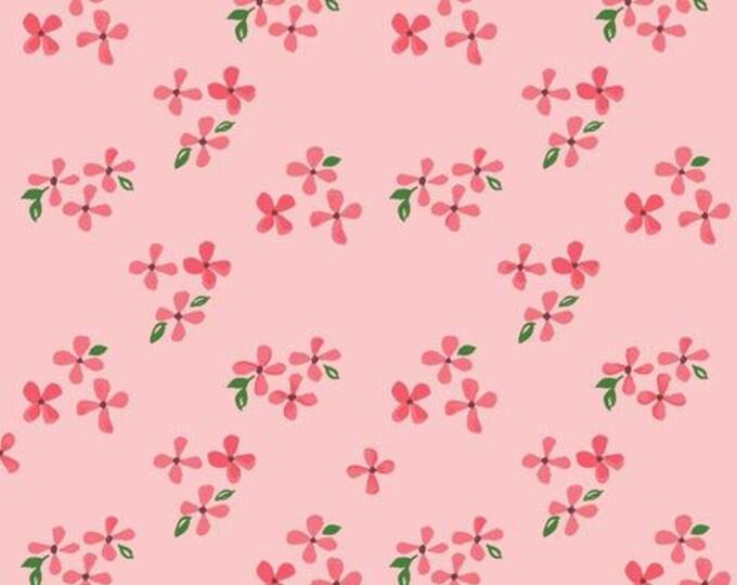 Organic DOUBLE GAUZE Fabric - Monaluna Bloom - Blossoms Double Gauze