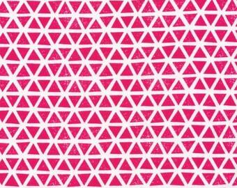 Organic KNIT Fabric - Cloud9 Knits - Triangles Magenta