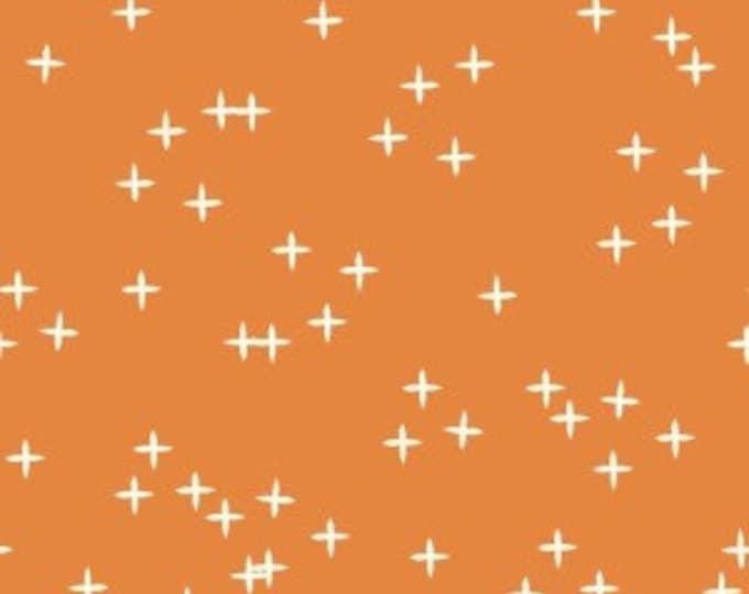 Organic KNIT Fabric - Birch Mod Basics 3 Knits - Wink Orange Knit