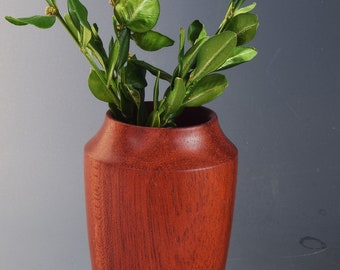 Miniature hand-turned redheart vase