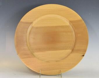 Large poplar platter hand-turned