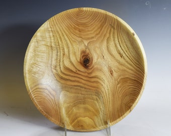 Large hand-turned maple serving bowl with amazing grain