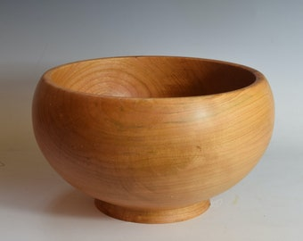Large cherry bowl serving or salad hand-turned