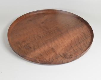 Hardwood platter hand-turned