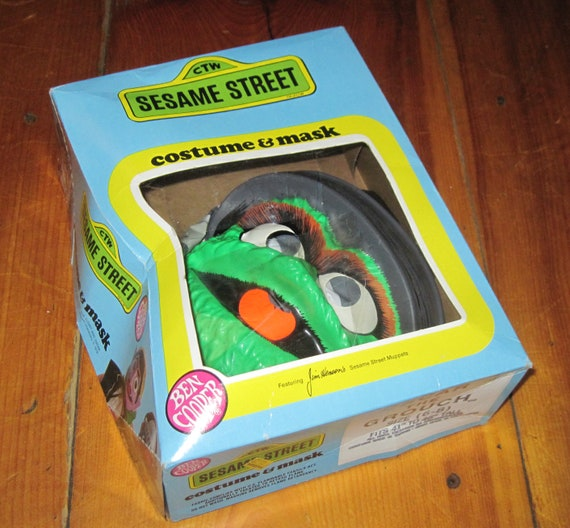 Vintage Ben Cooper Sesame Street Oscar The Grouch Childs Halloween Costume